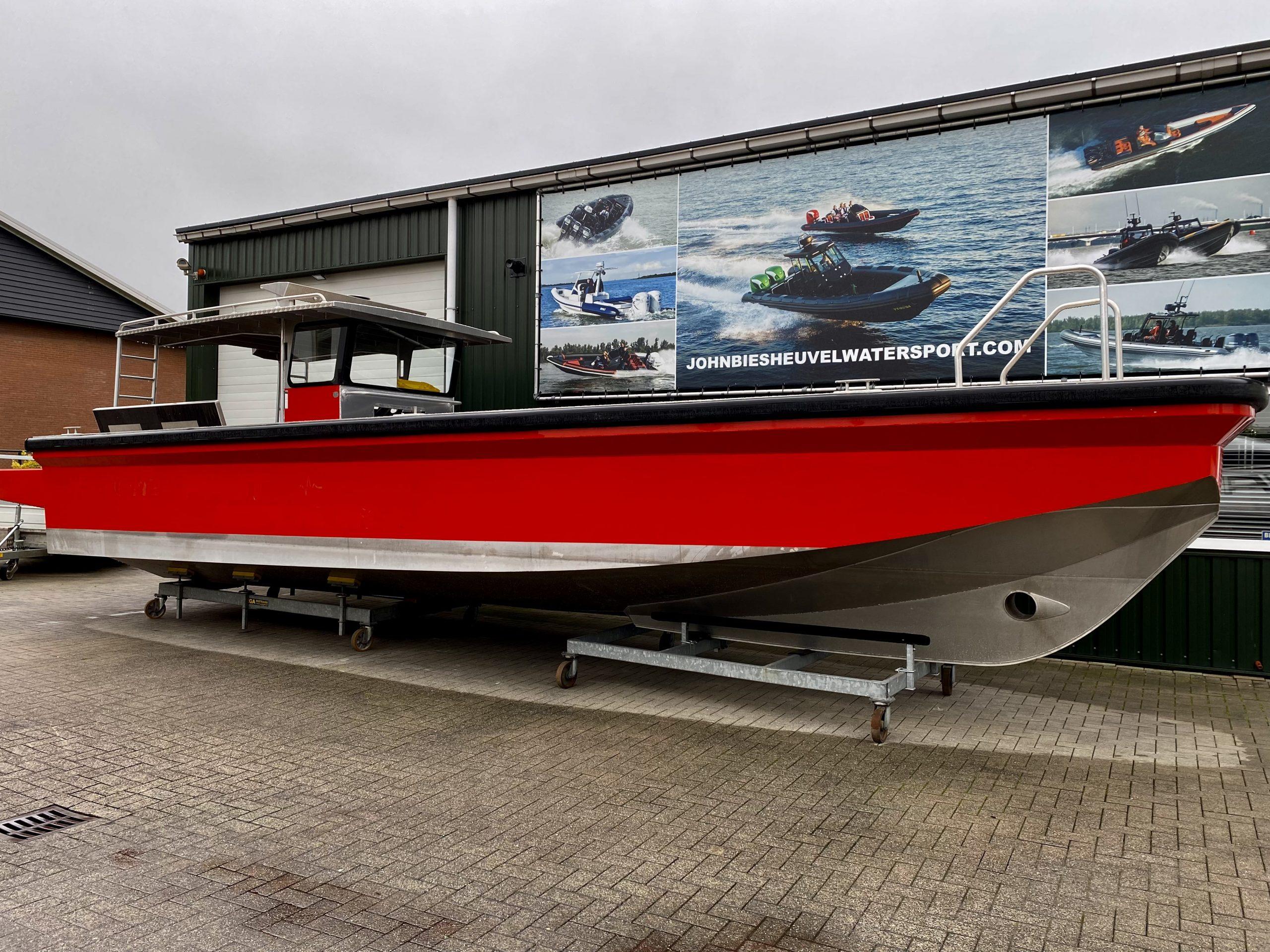 Aluminium boot met 2 buitenboordmotoren